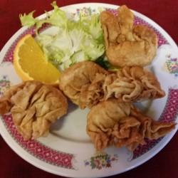 raviolis aux crevettes frits