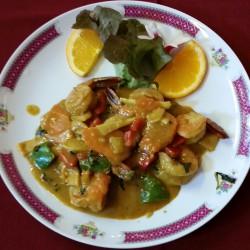 crevettes aux curry