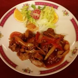 poulet croustillant sauc e aigre douce pimenté